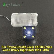 Caméra de recul de stationnement   Pour Toyota Corolla Levin YARiS L Vios Verso Camry Highlander 2015 voiture CCD Vision nocturne