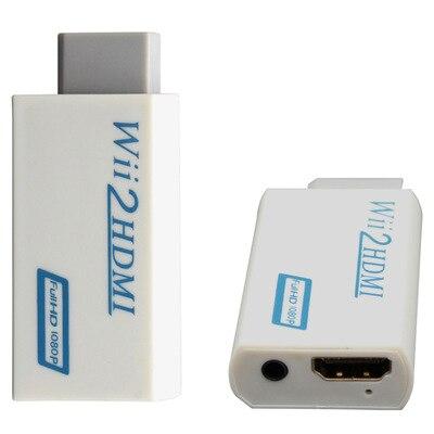 1 Uds., pantalla HD 1080p, convertidor HDMI, adaptador WII a HDMI para Wii