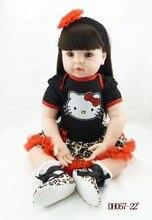 """22"""" Doll house arianna vinyl adora  victoria toddler long hair princess Bonecas girl doll bebe reborn menina de silicone"""