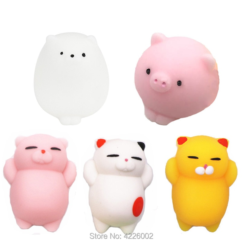 25/30pcs pack Squishy Squeeze Mochi Cat Cute Antistress Squishes Soft Squishies Animals Set Anti stress Kawaii Toys for Children enlarge