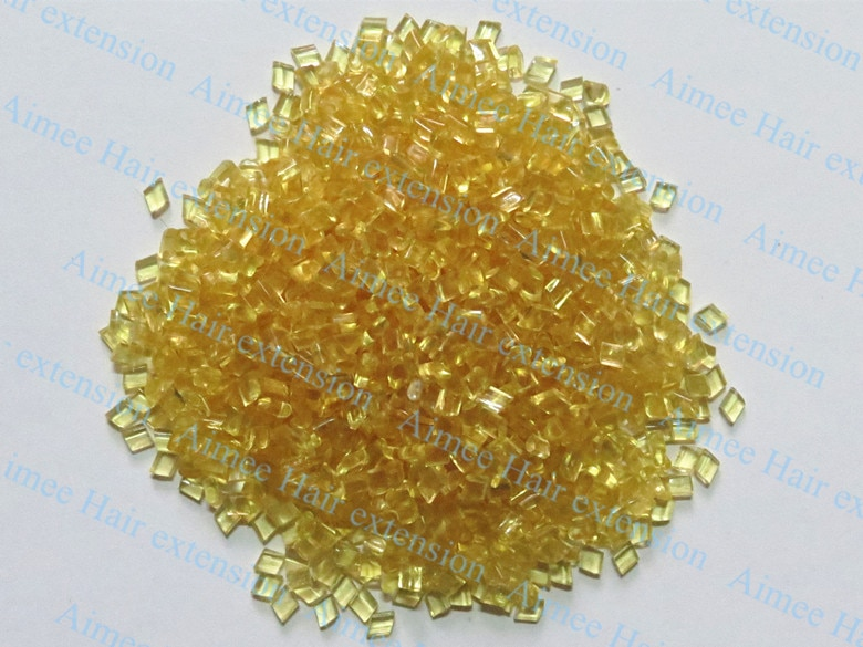 Wholesale 1kg Italy Glue Grain Transparent yellow / Soft Adhesion Fusion Glue Keratin which imported from Italian
