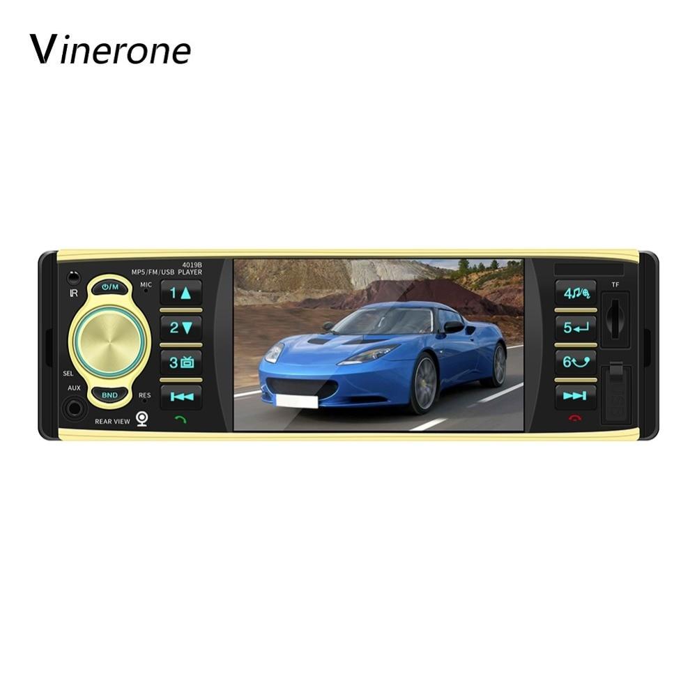 Vinerone AutoRadio 4'' inch Touch Screen Car Radio 1 Din Bluetooth 12V USB AUX FM MP3 Player Auto Radio Car Audio Stereo 1din