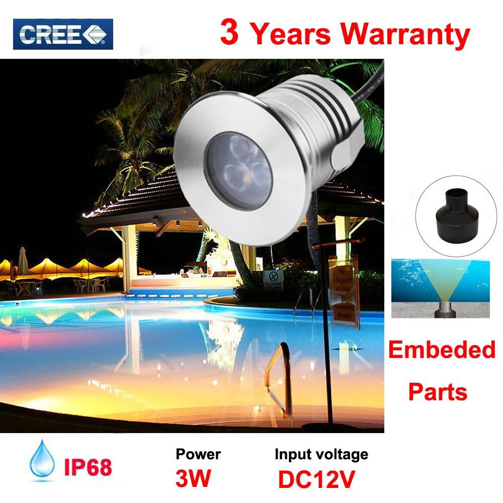 IP68 À Prova D Água 3 W LED Marinha Luz LED Subaquática Barco Luz Branca Brilho de Iluminação de Aço Inoxidável Lâmpada 12V24V