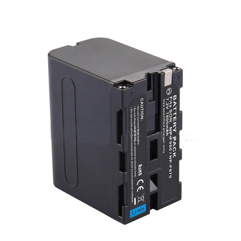 7800mAh NP-F970 NP-F960 cámara de repuesto de batería NP F970 NP F960 batería para cámara digital Sony NPF970 NPF960 Bateria