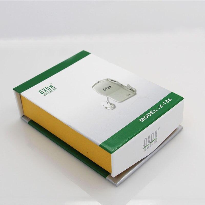 AXON X-136, caja cableada de alta potencia, Mini soporte auditivo, Amplificador, receptor,...