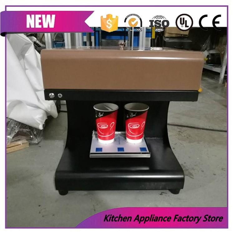 Máquina da impressora do chocolate dos biscoitos da arte do café do latte