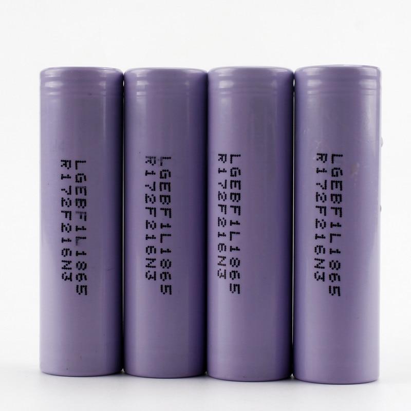 Sofirn 4pcs Original 3.6V 18650 3350mAh For LG Battery INR18650F1L Rechargeable Battery INR18650 F1L
