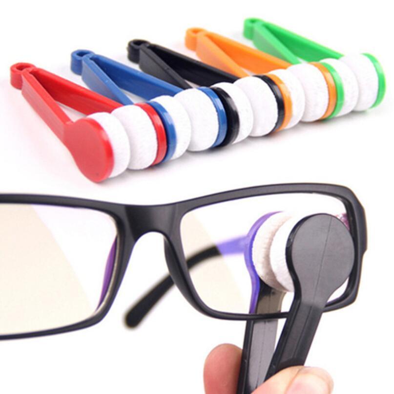 Óculos de Sol Óculos de Microfibra Ferramenta de Limpeza Escova de Escova Two-side Óculos Cleaner Lx5892