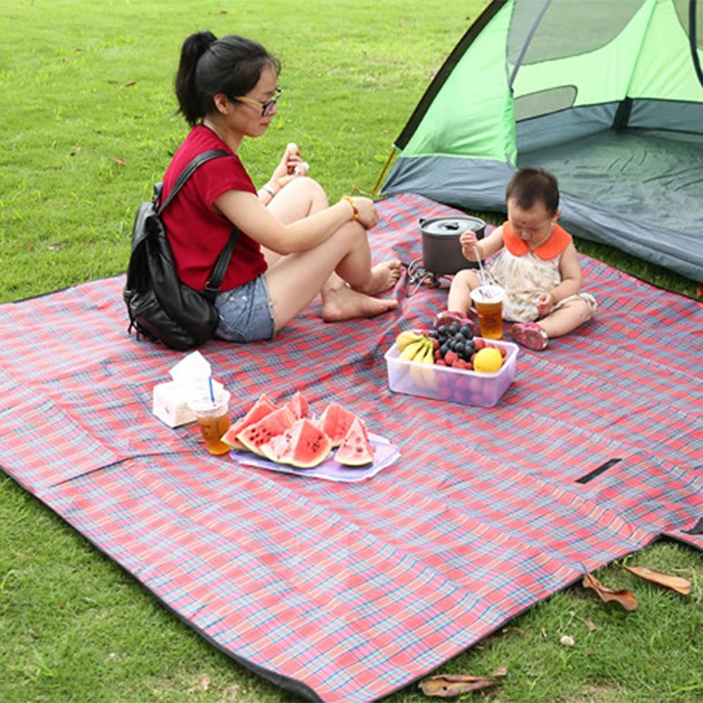 Alfombra para pícnic plegable, a prueba de agua, de 200x200CM, para exterior, Camping, playa, manta a prueba de humedad, alfombra portátil para acampar, jugar, senderismo, Playa