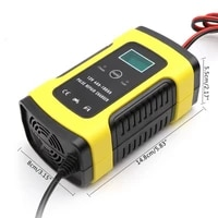 12v automatic car battery charger for auto motorcycle lead acid batteries intelligent charging 12 v volt 6 a amp