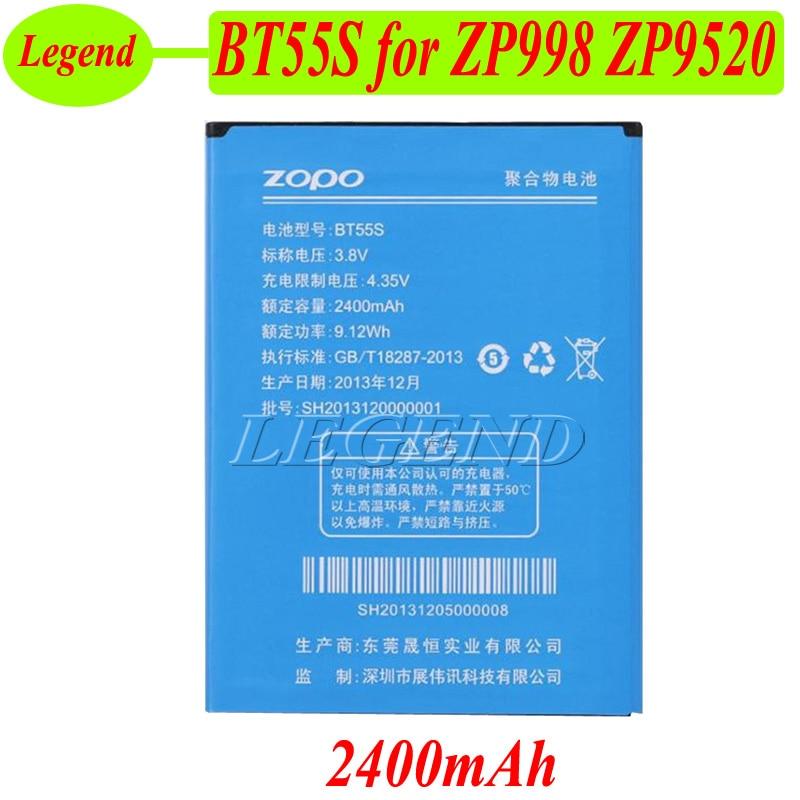 Zopo ZP998 batería BT55S 2400mah batería para ZOPO 9520 998 ZP998 ZP9520