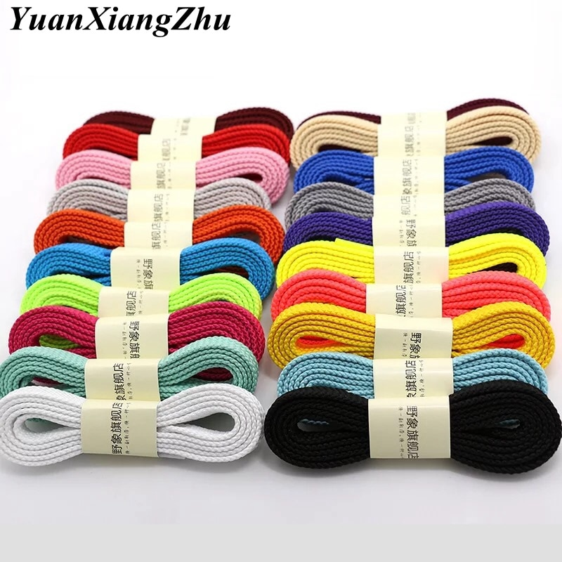 1 pair thicken classic shoelaces for sneakers shoe laces solid flat shoelace casual sports laces sho
