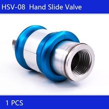 "HSV-06 HSV-08 HSV-10 HSV-15 Free shipping 1/8"" 1/4"" 3/8"" 1/2"" PT Thread 12mm Hole Neumatic Flow Control Manual Slide Valve"