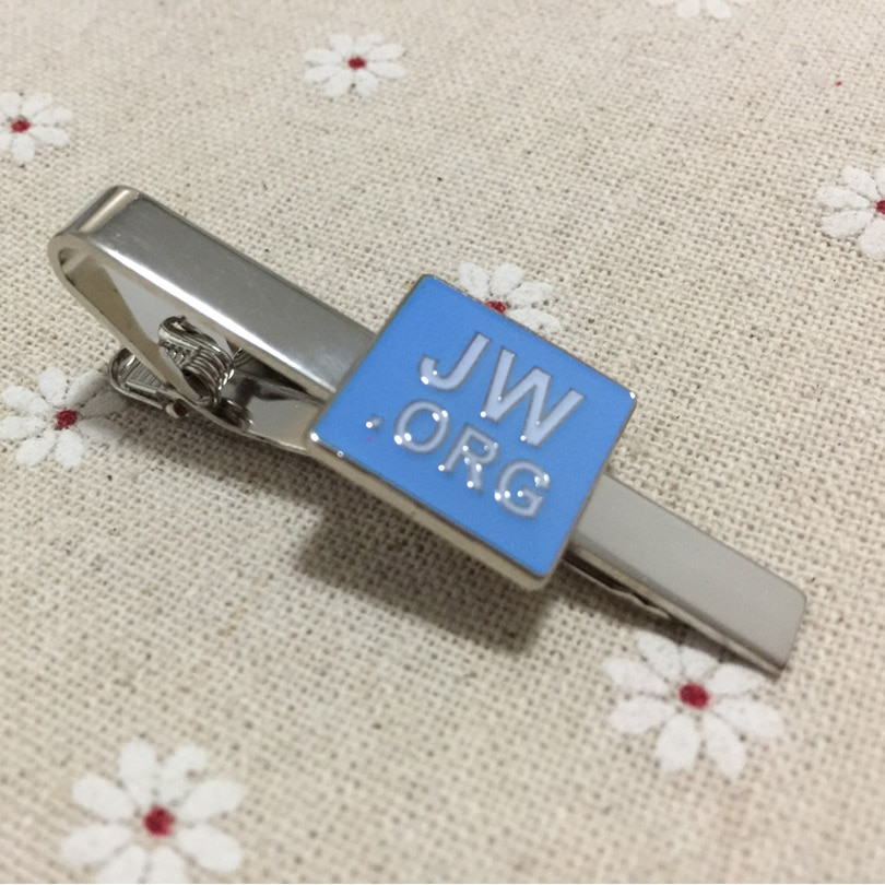 مشابك مربعة مطلية بالنيكل والمينا الأزرق مخصصة للرجال ، مشابك معدنية ، مثالية للهدايا ، بالجملة ، 100 قطعة
