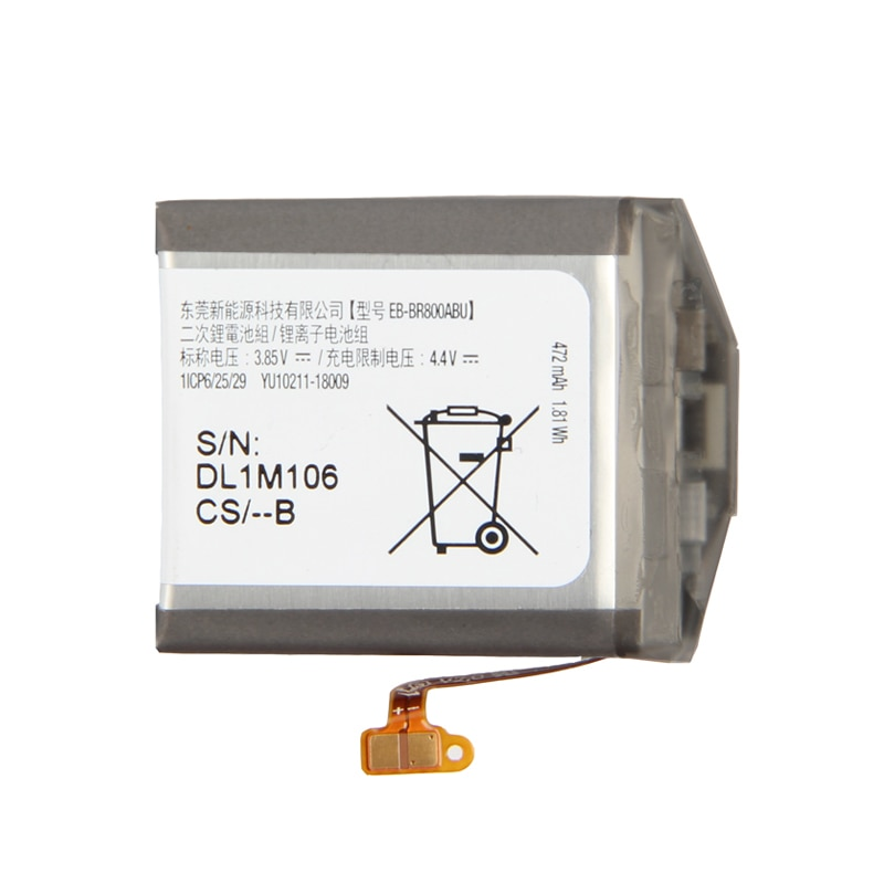 Samsung Original Replacement Battery EB-BR800ABU For Gear S4 SM-R810 SM-R800 SM-R805 EB-BR810ABU EB-BR170ABU SmartWatch enlarge