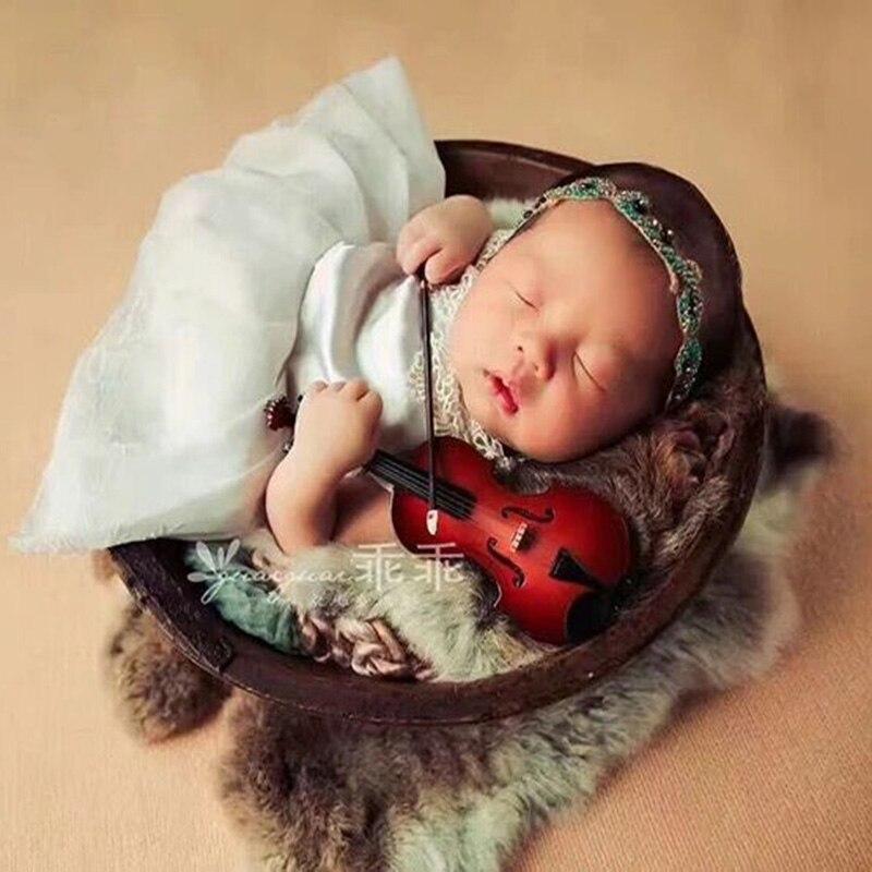 Accesorios de fotografía recién nacido guitarra violín violonchelo instrumento Musical bebé niño niña sesión de fotos accesorios de fotografía infantil