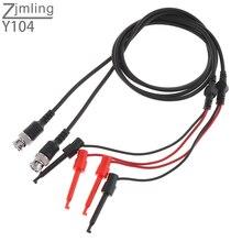2 Stuks Bnc Stekker Q9 Naar Dual Testen Haak Clip Meetsnoeren Probe Coaxkabel Lijn Voor Oscilloscoop Meten instrument Tool