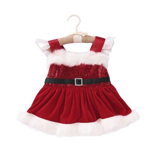 2018 inverno moda bebê recém-nascido menina natal princesa sem mangas lantejoulas de veludo fofo festa bodysuit tutu vestido traje