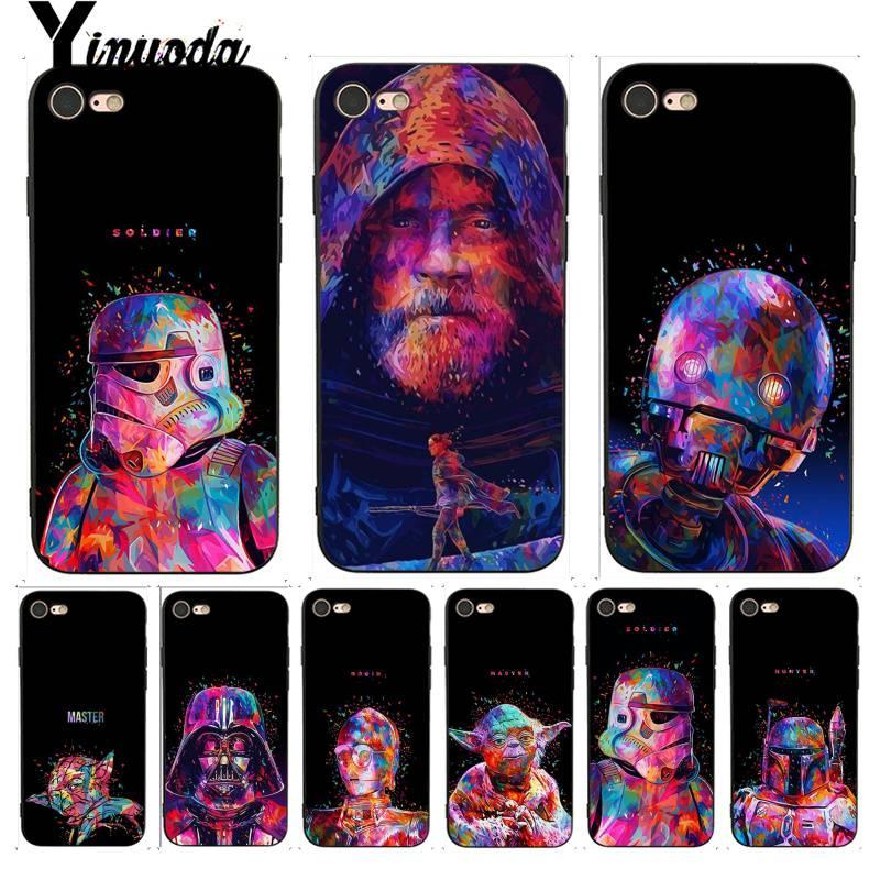 Yinuoda For iphone 7 6 X Case Star Wars Drawing Painting TPU Phone Case for iPhone 7 X 6 6S 8 Plus X 5 5S SE XR XS XSMAX