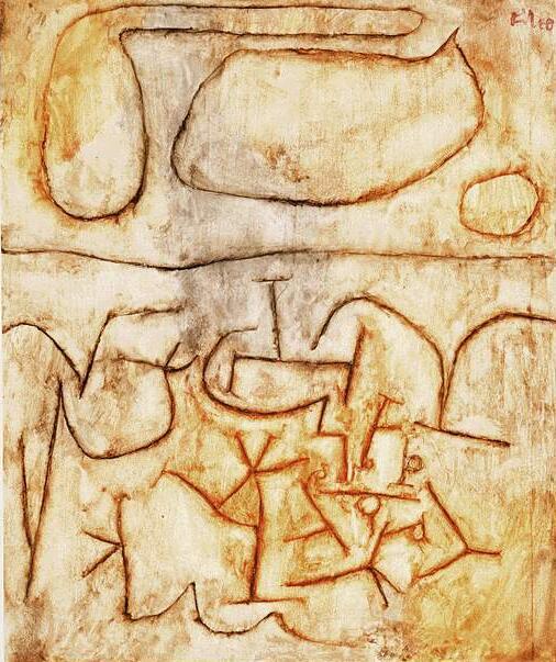 Pintura al óleo de alta calidad lienzo reproducciones suelo histórico (1939) de Paul Klee pintura pintada a mano