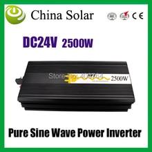 2500W Power Inverter,Pure Sine Wave Power inverter Input DC24V , Output 220V Electrical  Appliances