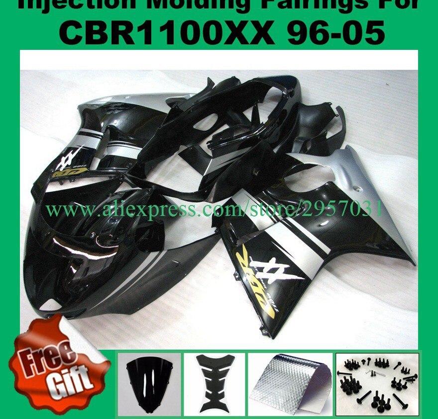 هدايا براغي لهوندا CBR 1100XX 1996 - 2007 ، حقن ، هيكل ABS CBR1100XX 96-07 ، أسود ، فضي XX