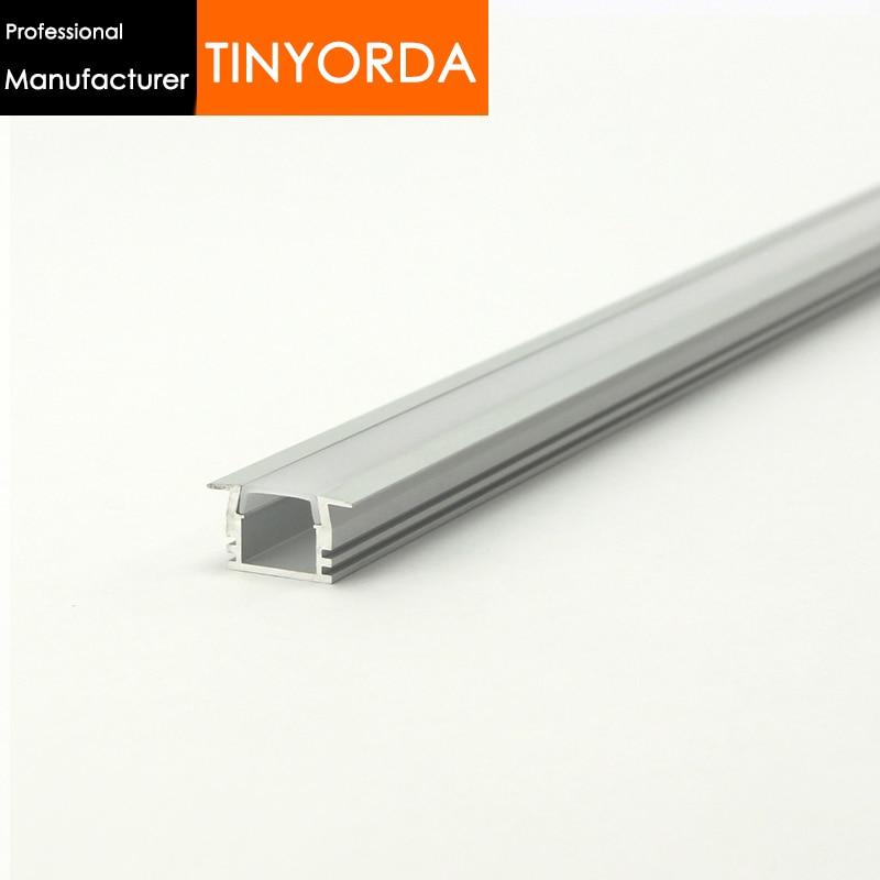 Tinyorda 1000Pcs (1M Length) Alu Led Profile  Led Channel Profil for 11mm LED Strip Light [Professional Manufacturer] TAB2212
