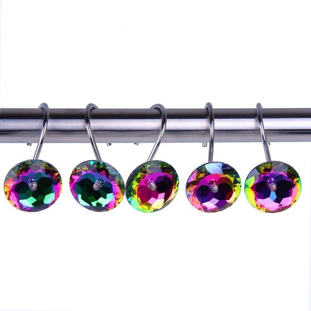NOCM Dekorative Dusche Vorhang Haken Acryl Strass-Set von 12