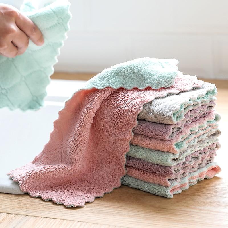 Luluhut 8 teile/los Hause mikrofaser handtücher für küche Saugfähigen dicker tuch für reinigung Micro faser wischen tisch küche handtuch