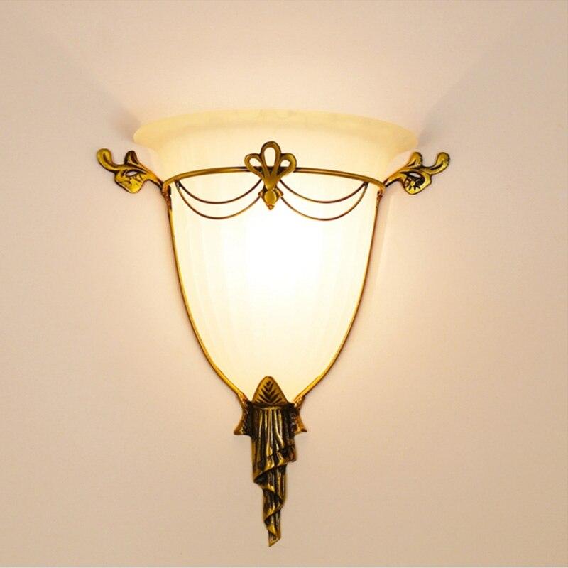 Lámparas de pared Retro lámpara de pared de hierro forjado pared de la vendimia led luz casera del estilo rústico iluminación moderna pared Sconces dormitorio lamparas de lectura para cabecero cama aplique retro