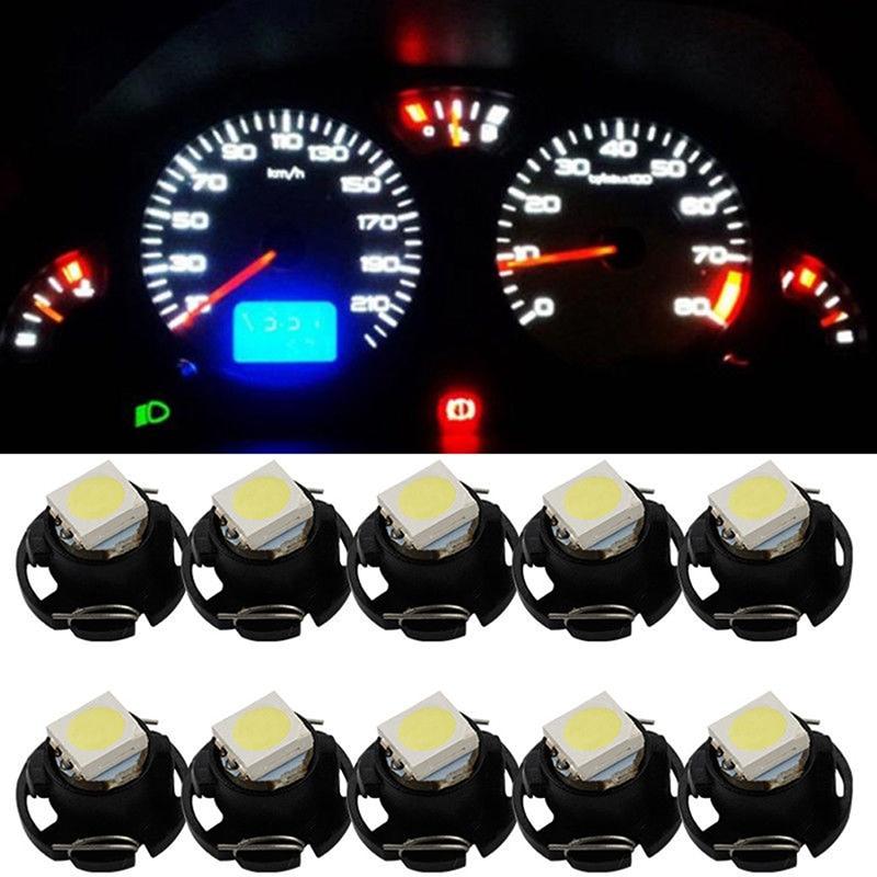 10pcs T3 T4.2 1210 3528 T4.7 5050 1 SMD LED DC12V Auto Dashboard dash Lamp Cluster Bulbs Car Instrument Light