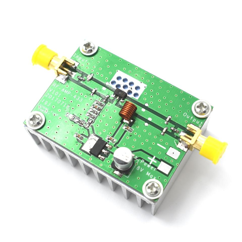 Placa amplificadora de potencia RF HF, 433MHz, 400-460MHz, 8W, amplificadores de frecuencias...
