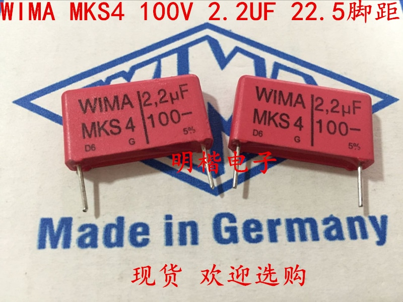 2020 hot sale 10pcs/20pcs Germany WIMA MKS4 100V 2.2UF 225 100V 2U2 P: 22.5mm Audio capacitor free shipping 2020 hot sale holland bc 20pcs 50pcs 82pf 100v 2