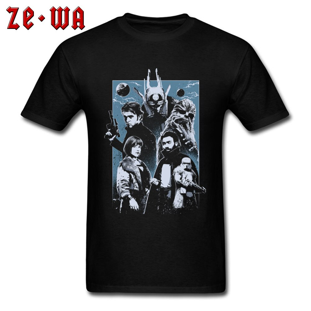 Star Wars Galaxy Western T-shirt High Quality T Shirt Men Cotton Tshirt No Fade Hip Hop Tees Vintage 80s Movie Hero Clothes