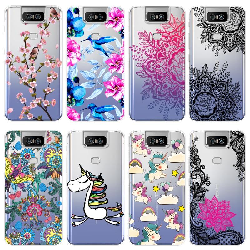 For Asus Zenfone 6 ZS630KL Case Fashion Silicone Asus ZS630KL Cover Soft TPU Phone Back Cover For Asus Zenfone 6Z Case Bag