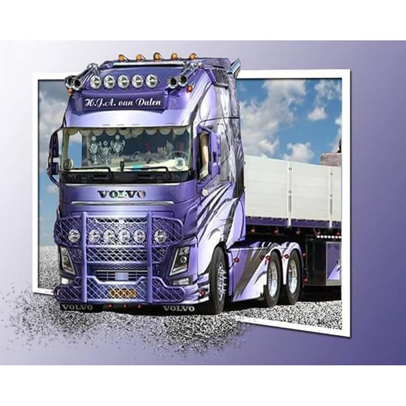 Handmade Diamond Embroidery New 5D Diy Diamond Painting Big Truck Cross Stitch Diamond Mosaic Needlework Home Decor