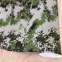 50X200 Cm Militaire Army Green Digitale Camouflage Vinyl Car Wrap Folie Lijm Pixel Motorfiets Auto Dak Hood Wikkelen sticker