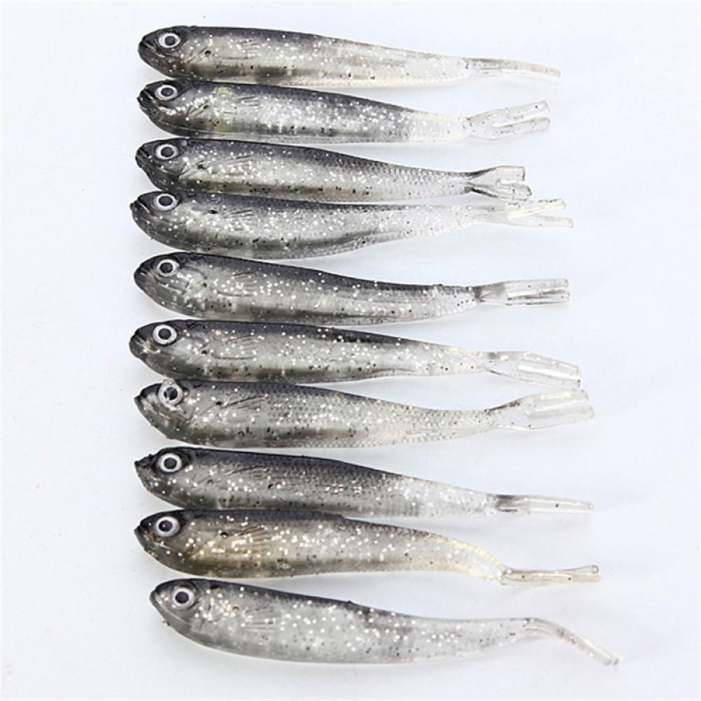 10 Uds Loach cebo suave señuelo realista suave insectos de pesca gusano Swimbaits señuelo de cabeza suave mosca pesca señuelos