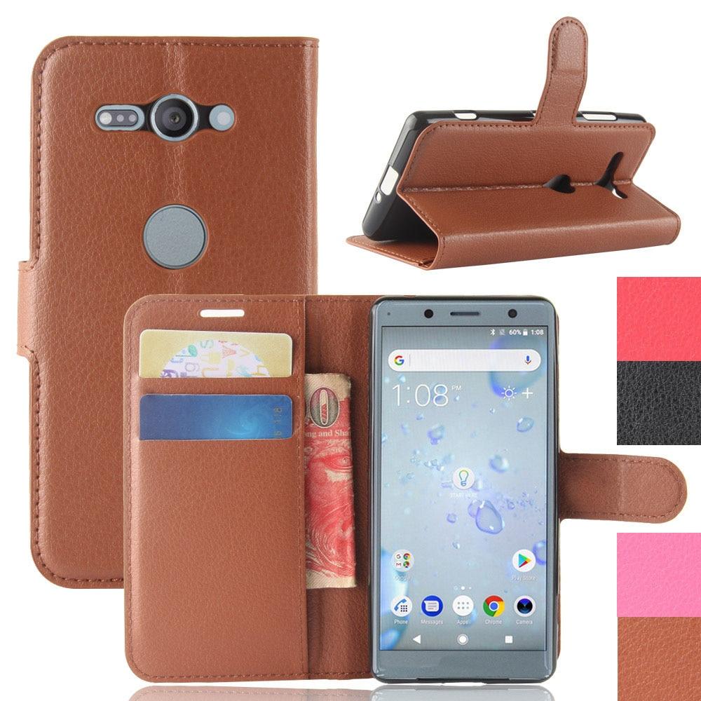 Для Sony Xperia XZ2 H8216 H8266 H8296/XZ2 Compact H8314 H8324 кожаный чехол-бумажник с отделением для карт задняя крышка-подставка