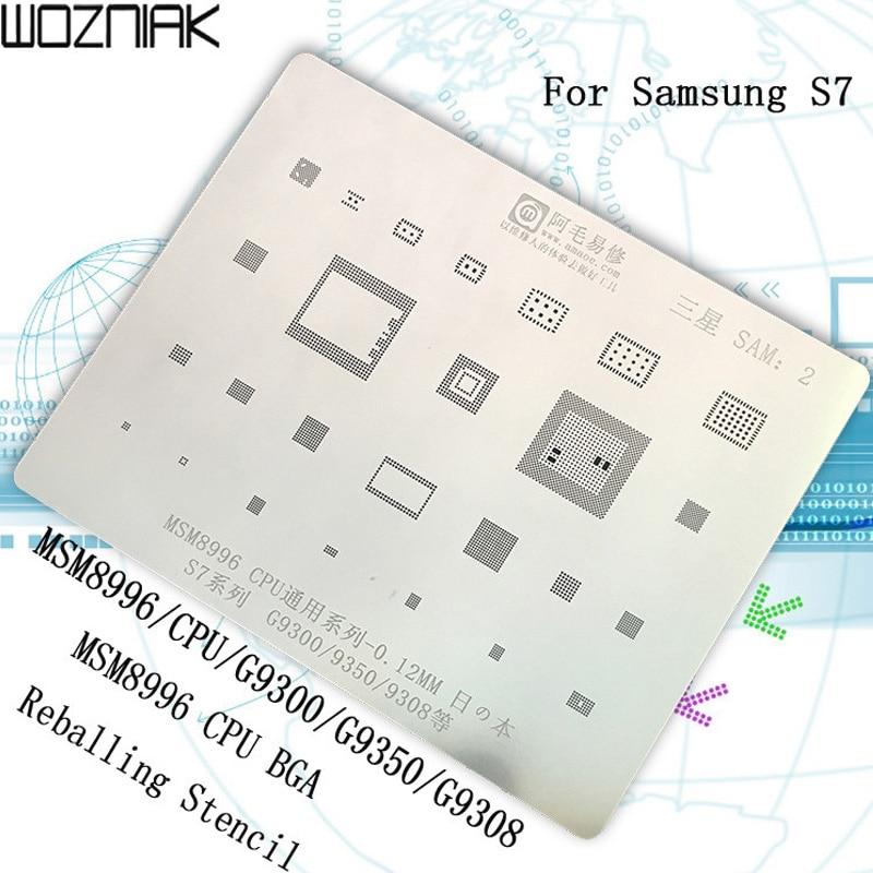 0,12 MM multifunción MSM8996 CPU BGA Reballing Stencil planta estaño red de acero para Samsung S7 para Samsung Galaxy S7