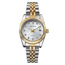 Reloj Mujer WLISTH montre de mode femmes montres de haute marque de luxe en cristal dames montre horloge calendrier Relogio Feminino Hodinky
