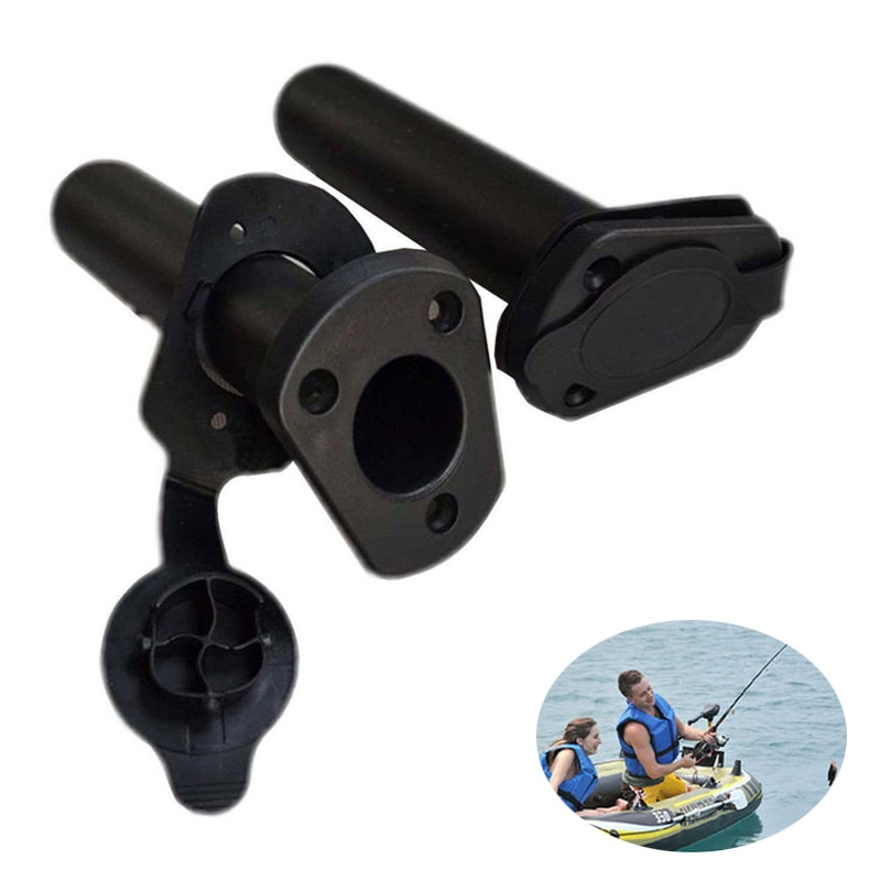 Hot Selling 2 Pcs/Set Plastic Flush Mount Fishing Boat Rod Holder Bracket And Cap Cover Kayak