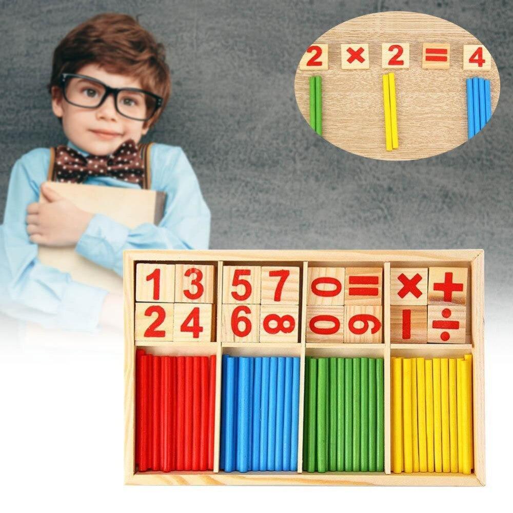 1 conjunto de Brinquedos Do Bebê Blocos De Madeira Brinquedo Educativo Blocos de Construção Figura Da Vara Inteligência Matemática Matemática Brinquedos Presente Dropshipping