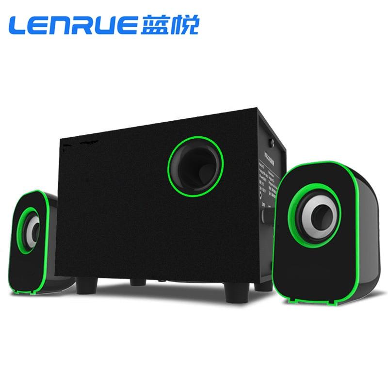 Surround Stereo Wooden Computer Speakers Home Theater Multimedia Combination Subwoofer USB Port 2.1 Laptop Desktop Loudspeaker enlarge