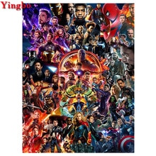 Perceuse carrée complète ronde bricolage   Peinture diamant, Marvel, superhéros guerre Infinity, Avengers 5d, broderie diamant, mosaïque, décoration murale
