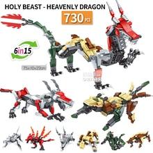 Animaux transformer Dragon signes du zodiaque chinois assemblé blocs de construction briques compatibles créatifs enfants kits jouets enfants cadeau