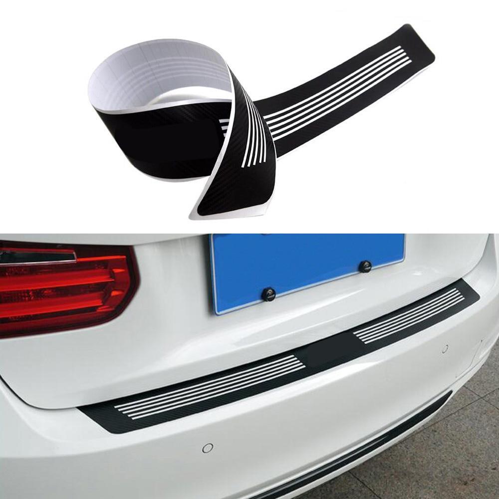 Color de fibra de carbono vinilo etiqueta engomada etiqueta/Logotipo M coche trasero placa protectora decoración pegatina para BMW 1 3 5 serie F10 F20 F30 E90
