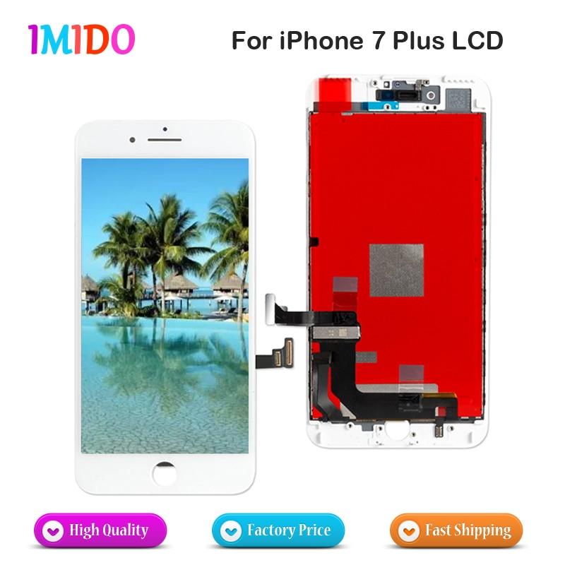 5 uds LCD para iPhone 7 Plus pantalla LCD OEM MONTAJE DE digitalizador con pantalla táctil sin píxeles muertos reemplazo completo DHL envío