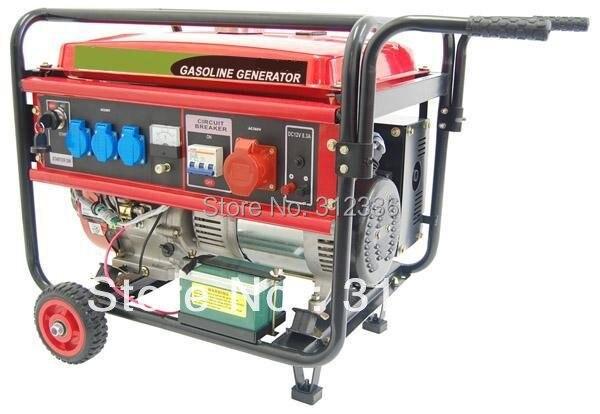 Generador trifásico 6500EW3 con arranque eléctrico con rueda 5kW 188F GX390 13hp 4 tiempos CE EPA CIQ SASO SONCAP