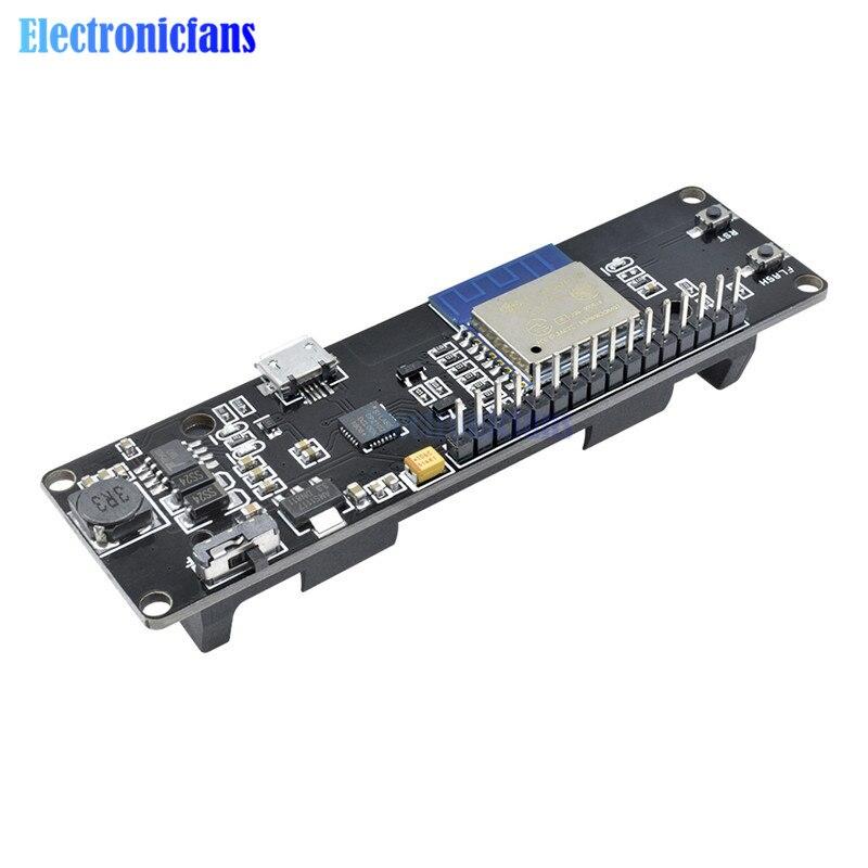 Para WeMos D1 ESP8266 Mini WiFi módulo inalámbrico Nodemcu 18650 Placa de desarrollo de batería Esp-Wroom-02 placa base 1A PWM I2C